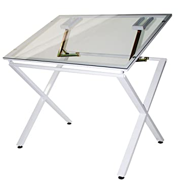 Martin X Factor Drawing And Hobby Table With Large 30 By 42 Inch Glass