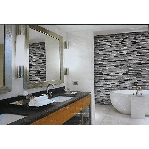 Golden Select Glass and Aluminum Mosaic Wall Tile low-cost