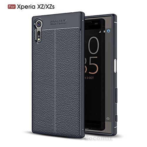 Cocomii Ultimate Armor Sony Xperia XZ/XZs Case New [Heavy Duty] Premium Tactical Leather Pattern Grip Slim Fit Shockproof Bumper [Military Defender] Full Body Cover for Sony Xperia XZ (Ul.Deep Blue)