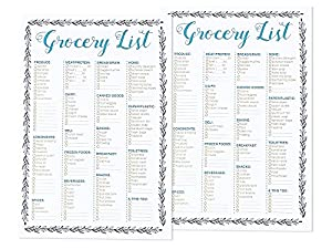 Amazon.com : Set of 2 50-Sheet Grocery Lists Notepads - Shopping ...