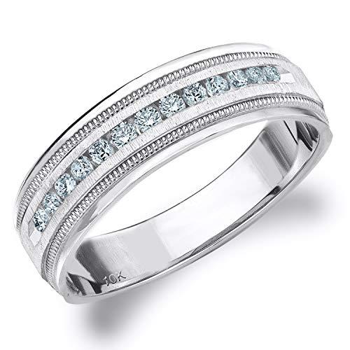 .25CT Heritage Men's Diamond Ring in 10K White Gold Satin Finish - Finger Size 10