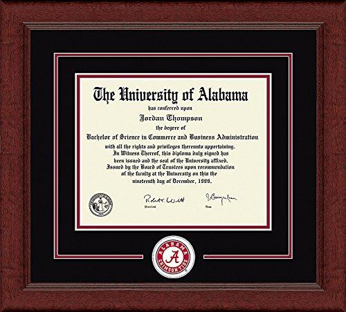 Elite Fan Shop Alabama Crimson Tide Diploma Frame - Black