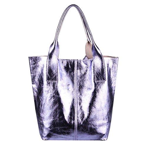 OBC Only-Beautiful-Couture, Borsa a spalla donna Lila 42x35x16 ca.: 42x35x16 cm (BxHxT) Lila 42x35x16
