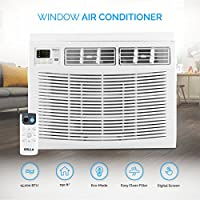 DELLA Mini Compact Window-Mounted Air Conditioner 15,000 BTU 115-Volt with Remote Control up to 750 Sq ft Energy Star