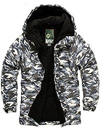 SOUTH PLAY Mens Premium Ski SnowBoard Wear Jacket Jumper CAMO GRAY