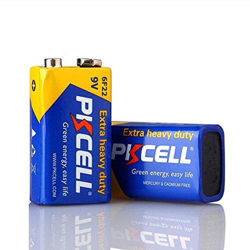 6f22 Super Heavy Duty Batteries - 2 Pack 9V 6F22 Super Heavy Duty batteries for smoke detectors