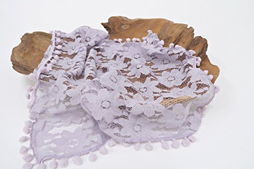 Lace Layering Newborn Photo Props - 5 Colors to Choose From - Floral Lace Fabric Layers - Great for Baby's First Photos
