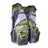 Fly Fishing Mesh Vest Outdoor Breathable Backpack Gear Vests Adjustable Size for Men Women
