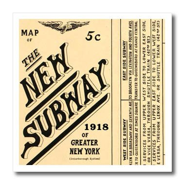 Upper West Side Subway Map.Amazon Com 3drose New York Image Of 100 Year Old Subway Map Of