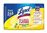 Lysol Disinfecting Wipes, Lemon & Lime Blossom, 240ct (3ct)