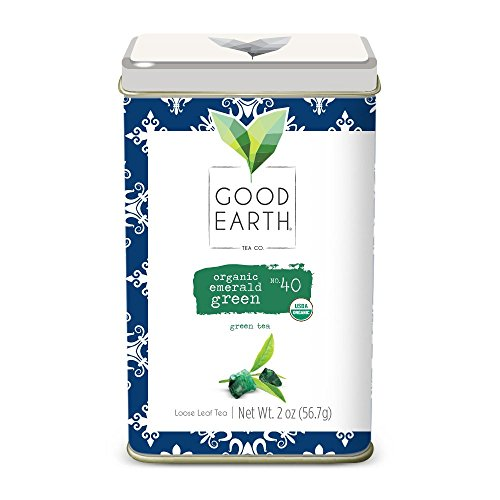 Good Earth Tea Organic Emerald Green - Premium Organic Loose Leaf Green Tea - Sweet, Smooth, earthy, flowery, and soft on the palate