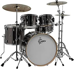 gretsch drums energy vb 5 piece drum set with zildjian cymbals gray musical instruments. Black Bedroom Furniture Sets. Home Design Ideas