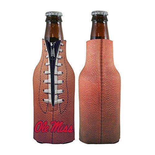 NCAA College 2014 Team Logo Football Look Bottle Coolie Holder Koozie Cooler 2-Pack (Ole Miss) (Cooler Miss Bottle Ole)