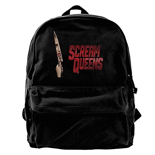 Scream Queens Knife Logo Canvas Backpack School Rucksack Travel Backpack Laptop Backpack -