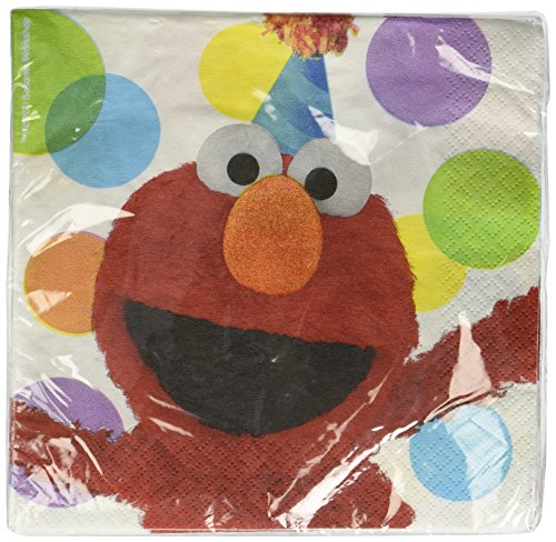 Sesame Street Elmo Party - 16 Lunch Napkins Party Accessory