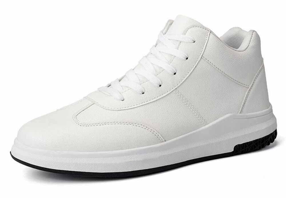 メンズ軽量ランニングシューズ2017秋新しいhi-topスニーカー学生ファッションPUカジュアル靴 B0783NCQ8F