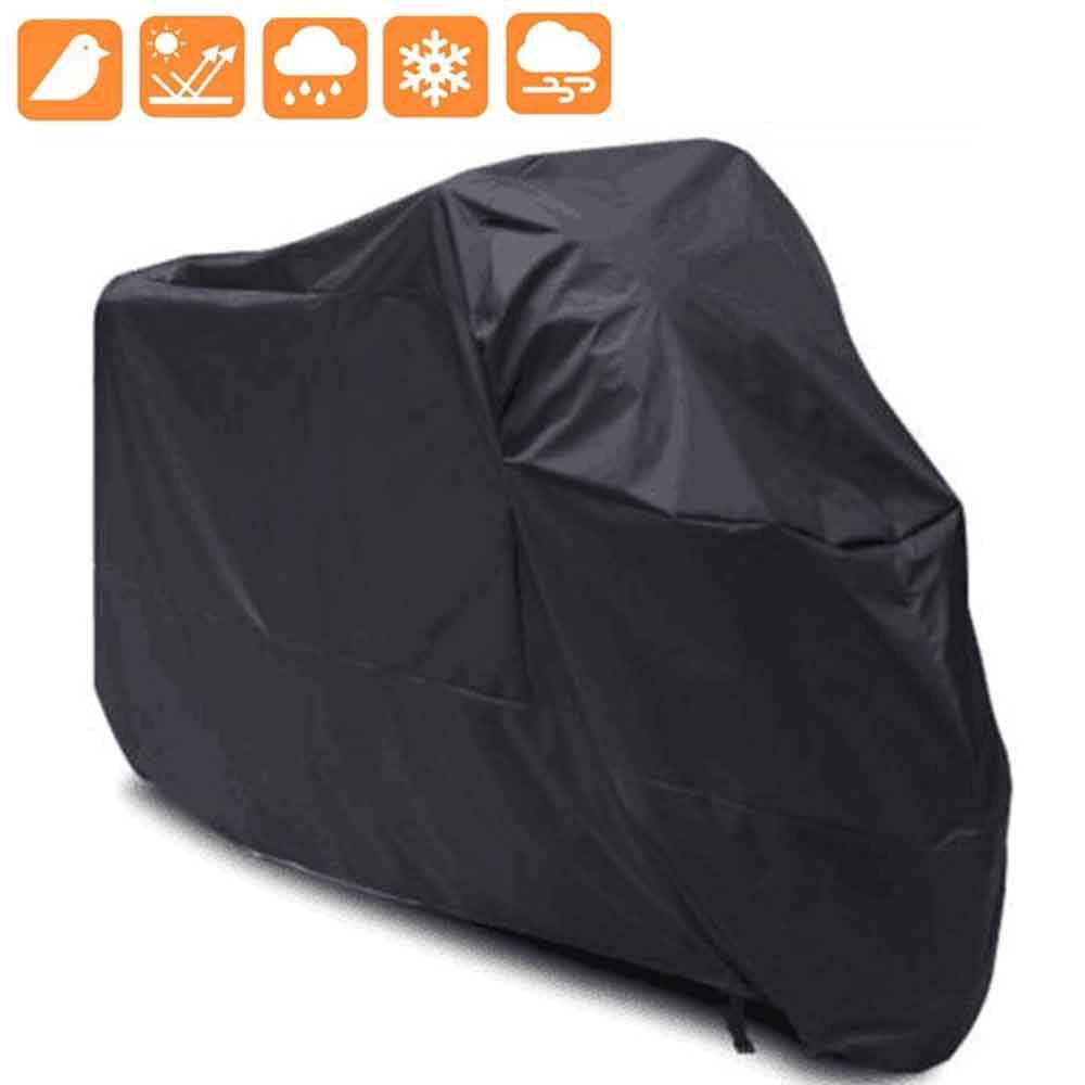 MOGOI Motorcycle Scooter Cover Waterproof Durable Tearproof Storage Cover Heavy Duty All Season Outdoor Protection Touring Cruisers Covers for Honda Yamaha Suzuki Harley