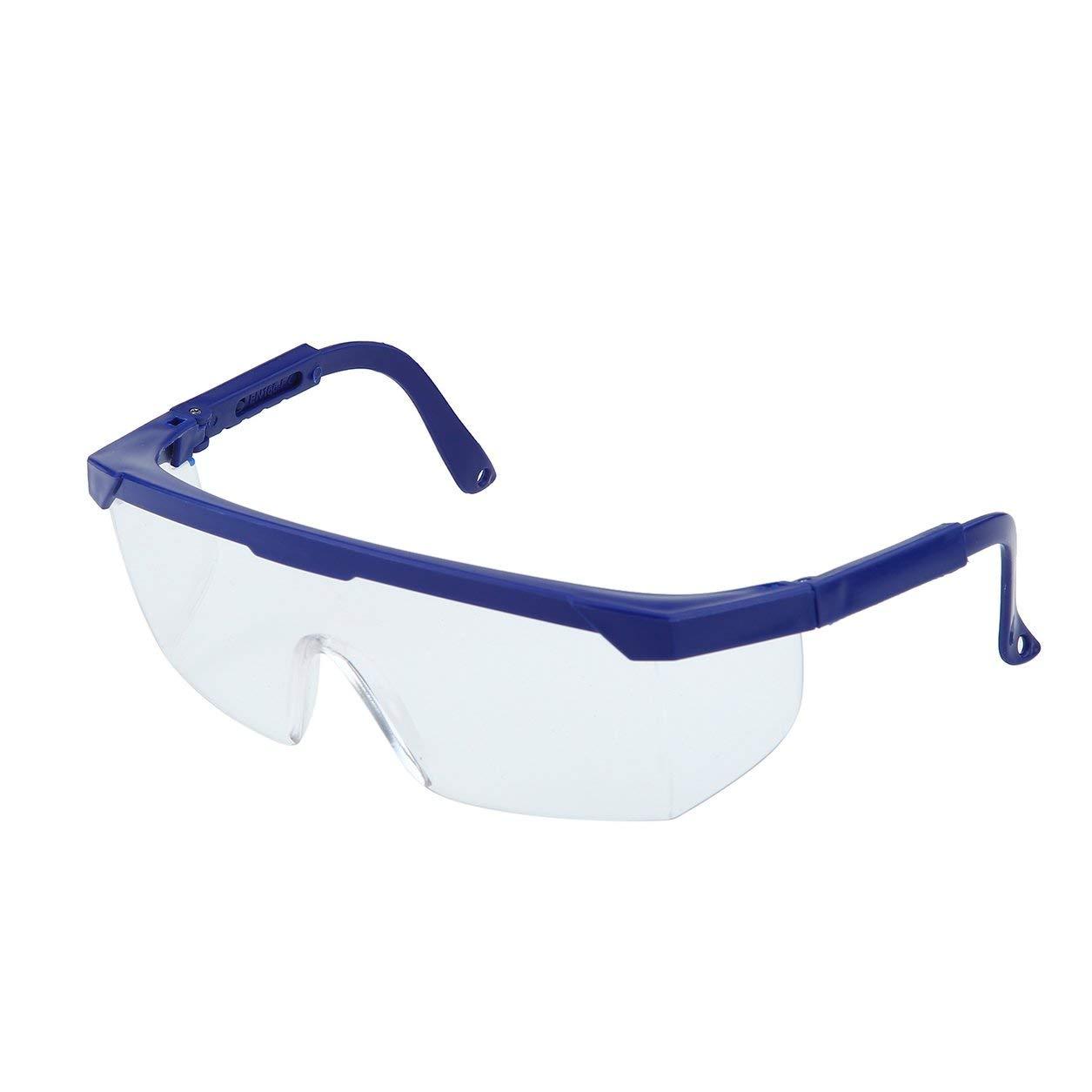 Occhiali protettivi per la sicurezza degli occhi Occhiali protettivi per la polvere da laboratorio Occhiali antischiacciamento industriali antischiavolo blu