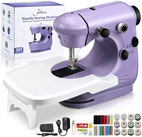 Jeteven Mini Electric Sewing Machine, Handheld Household Sewing Machine Portable Lightweight Sewing Machine for Beginners, Kids, Crafting DIY, Travel, Quick Repairs and Small Projects