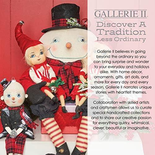 GALLERIE II Molly Monty Sledding Joe Spencer Gathered Traditions Art Doll Cream