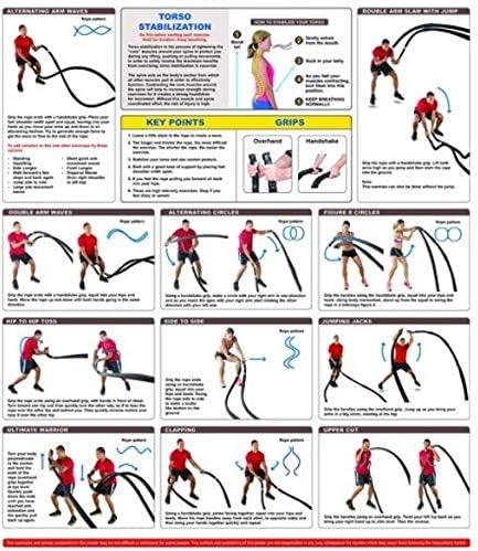 ダクロンバトルロープ、コアストレングストレーニングロープスポーツ用品バトルロープジムに登ってクロスフィットバトルワークアウト用のフィットネスロープ,50mm*15m