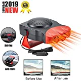 Portable Car Heater - 150W Defrost Defrogger Heating Fan, 12 V Car 30S Fast Heat or Cooler 2 in 1 Car Heater and Cooler (CRED01, Red)