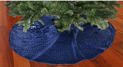 Shinybeauty blu scuro con paillettes gonna albero 121, 9cm albero di Natale gonna unico sparkly Glittery Holiday ricamo paillettes blu ShinyBeauty Wedding Co.Ltd