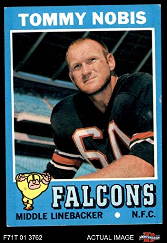 1971 Topps Football Card - 1971 Topps # 60 Tommy Nobis Atlanta Falcons (Football Card) Dean's Cards 5 - EX Falcons
