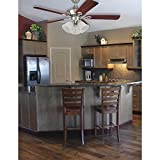 Westinghouse 7784900 Three LED Cluster Ceiling Fan Light Kit, Brushed Nickel Finish with Frosted Ribbed Glass