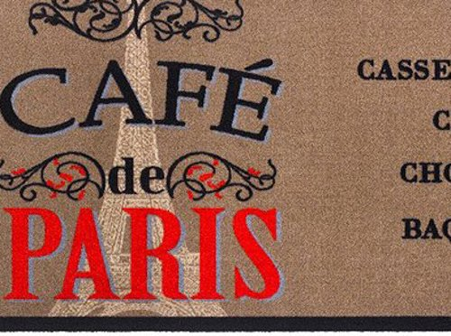 MD-Entree Tapis de Cuisine Cafe de Paris 50x150cm Polyamide 80 x 150 cm Multicolore