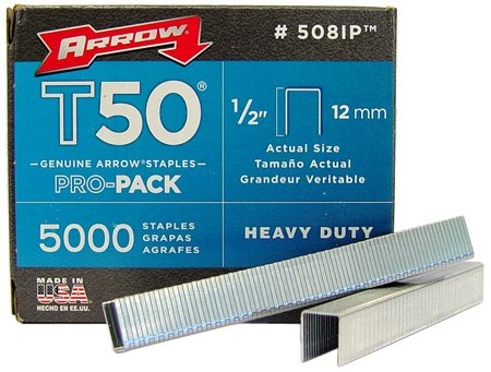 Arrow 508-IP T50 1/2-Inch Staples, 5000-Pack (Staple Gun Staples)