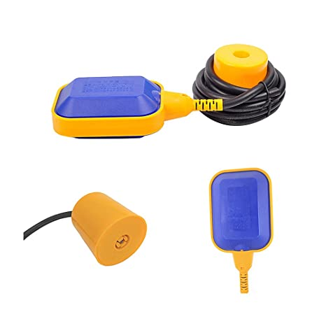 elecall 10 ft 3 m cable agua nivel controlador rectangular interruptor de flotador AC 250 V