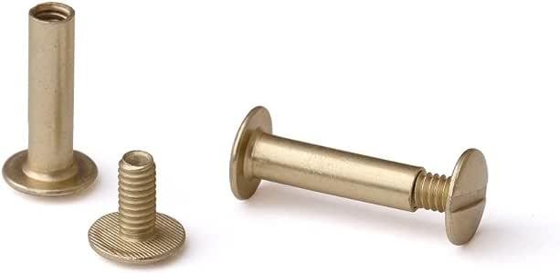 Amazon Com 3 4 In Antique Brass Aluminum Chicago Screws Screw Posts Qty 100 Sets Binder