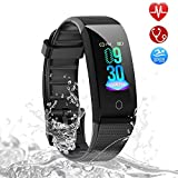 Fitness Tracker, Airbach Fitness Watch IP68 Waterproof with Heart Rate Monitor Activity Tracker