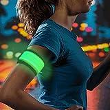 #7: Higo LED Slap Armband, Lights for Running, Glow Bracelets with Color Box Package
