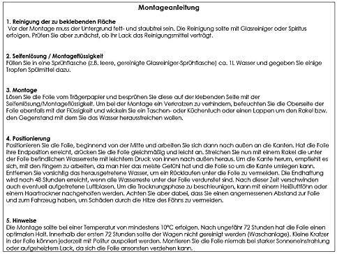 Ladekantenschutz Lackschutzfolie Schutzfolie Schwarz-Glanz Auto Folie Lackschutz 10120