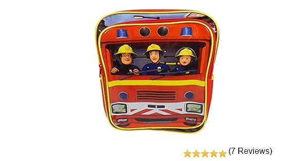 Trade Mark Collections SAM001014 - Mochila cuadrada, diseño de Sam el bombero: Amazon.es: Equipaje