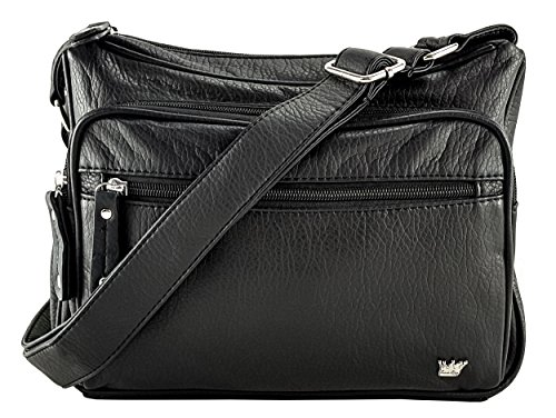 Purse King Magnum Black Concealed Carry Handbag