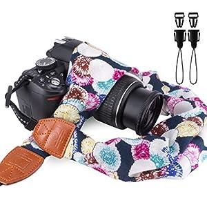 Elvam Scarf Camera Neck Shoulder Strap Belt for Nikon / Canon / Sony / Olympus / Samsung / Pentax / Mini 9 / Mini 8 / Mini 7s / Mini 25 / Mini 50s / DSLR / SLR / DC / Instax Camera