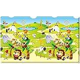 Dwinguler Non toxic playmat / Baby Toddler Kids Children Soft Play Mat / Safe Crawling Mat - Zoo (Large)