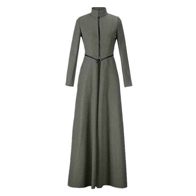 Yvelands Chaqueta de Cuerpo Entero para Mujer Abrigo Winder Breaker Slim Fit Trench Largo Outwear Parka Tops Blusa: Amazon.es: Ropa y accesorios
