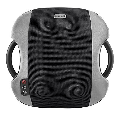 HoMedics Full Back Shiatsu and Vibration Massaging Cushion with Soothing Heat, 3 programs - Full, Lower, Upper Back with or without Vibration, Home and Office. 90 Day Warranty (Certified Refurbished)