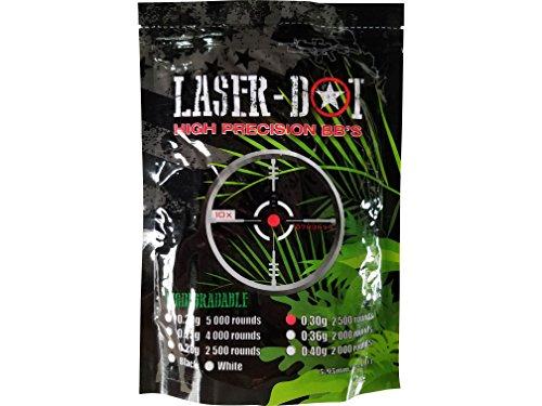 Laser-Dot 2500 Count .30g Pink 6mm Airsoft BBs - Biodegradab