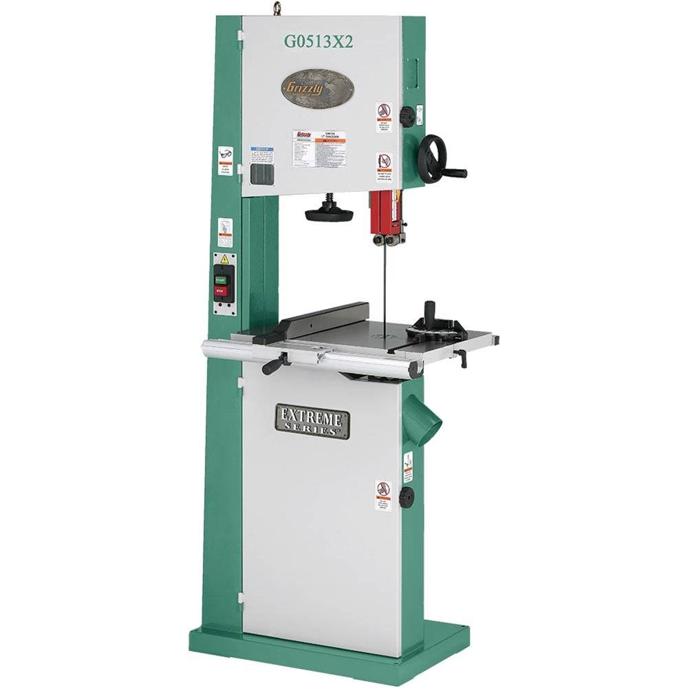 Grizzly G0513X2 Bandsaw with Cast Iron Trunnion, 2 HP, 17-Inch