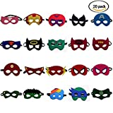 FANHONG-1 (20 Piece) Superheroes Party Masks for Children Perfect for Children Aged 3+