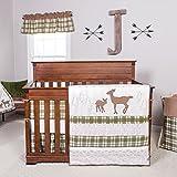 Trend Lab Deer Lodge 3-Piece Crib Bedding Set, Cream