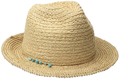 san-diego-hat-company-womens-fedora-hat-with-crochet-brim-and-turquoise-trim-natural-one-size