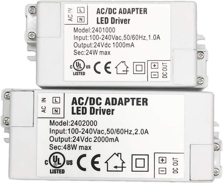 dalimentation /à d/écoupage AC//DC 1-Paquet Prime Transformateur Pilote LED dIP44 24V 0.625A 15W de Basse Tension YAYZA