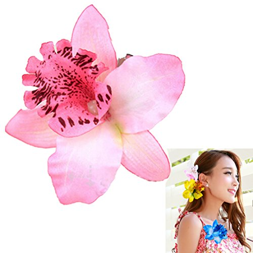 Freedi Womens Flower Hair Clip Pin Beach Party Wedding Event Girls Orchid Hairpins Decor Girl Hawaiian Pin