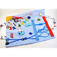Sea life Busy book Tutorial Quiet book Travel toy Montessori Toddler toy Baby gift Fidget Play mat Special Need Busy blanket Sensory blanket